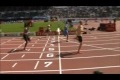 runner breaks his leg during 100m sprint