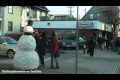 Kiss the Fake snowman Funny Prank