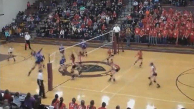 Epic Two-For-One Volleyball Spike