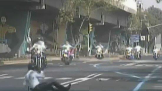 Polis Motorcykel olycka