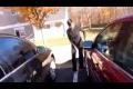 Crazy girl scratched car